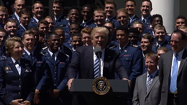 Air Force visits White House